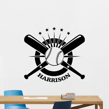 Custom Name Baseball Wall Decal Personalized Vinyl Sticker Art Decor Mural 65nnn