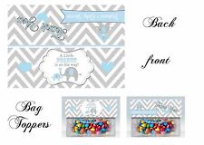 Elephant Baby Shower Bag Toppers, Gift Tags, Elephant, baby shower, elephant tag