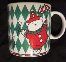 SANTA BEAR CLOWN MUG Vtg 1994 Japan (DAYTON HUDSON & MARSHALL FIELD) Christmas
