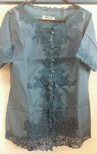Unbranded Women's No Pattern Fitted Button Down Collar Tops & Shirts