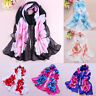 Fashion Women's Soft Chiffon Silk Long Scarf Flower Printed Scarves Wrap Shawl
