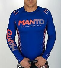 Manto Original Long Sleeve Rashguard Blue - Large