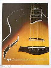 """Affichette TAYLOR guitare """"T5 Thinline Fiveaway"""""""