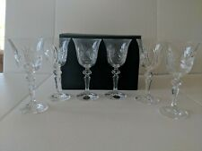 Set Of 6 Bohemia Hand Cut 24% Lead Crystal Wine Glasses Czech Republic Laura