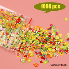 1000 Dollhouse Miniature Assorted Fruit Slices Food DIY Fimo Nail Art Craft 1/12