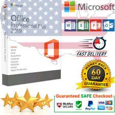 Microsoft Office 2019 Pro Plus Lifetime License Key for 10 Windows PC
