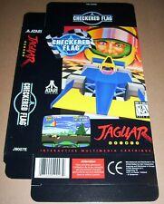 Atari Jaguar 64-Bit Games Console Original Checkered Flag Game Box NEW J9007E