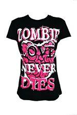 Poizen Industries Love To Die T-Shirt Señoras Camisa Informal Estilo Punk Gótico Emo