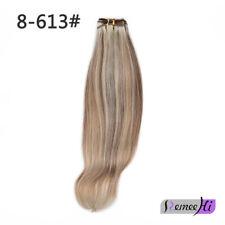 Women Straight Hair Glueless100% Indian Remy Human Hair Weft Cap 3/4 Half Wig
