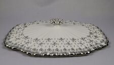 SPODE FLEUR DE LYS GREY / PLATINUM Y7515 Lid for Covered Vegetable Serving Bowl