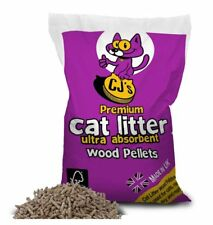 CJ's 30 Litres Wood Pellet Responsibly Sourced Cat Litter Premium Pinewood Based