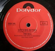 """THE WHO 7"""" LET'S SEE ACTION  AUSTRALIAN"""