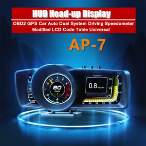 HUD Head-up Display OBD2 GPS Dual System Driving Speedometer Modified Code Table