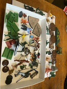 Bundle of soldiers cowboys indians toy army men military figures
