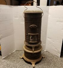 "ANTIQUE BARLER'S IDEAL OIL HEATER #44 CAST IRON/SHEET METAL STOVE 25"" Tall"