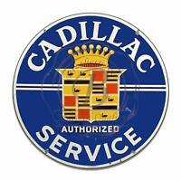 Cadillac Service Garage Metal Sign