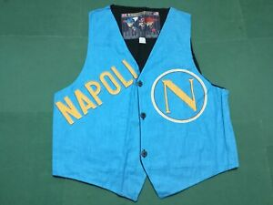 S.S.C. NAPOLI - Rare  Vintage GILET Calcio Football, Tg. Large  - Made in Italy