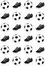24 Football Boot Cupcake Fairy Cake Toppers Edible Rice Wafer Paper Decorations
