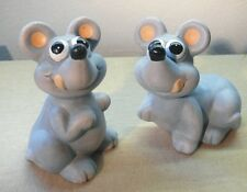 Maus Schlecki aus Keramik in grau 15 cm groß 2 Stück sortiert Nr. 509
