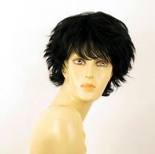 perruque femme 100% cheveux naturel courte noir ref NOELLE 1b