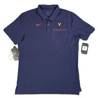 Nike UVA Virginia Cavaliers Polo Dri-Fit Men's Medium Navy AR8906-419