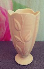 """Haeger Floral Tulip Cream Tall Ceramic Vase 2004 10 1/2"""" Mint Made in Usa"""