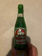 Vintage SUN-DROP gold-en COLA Green Bottle Rare 7oz St. Louis Missouri