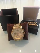 Michael Kors Runway Chronograph MK8077 Wrist Watch gold