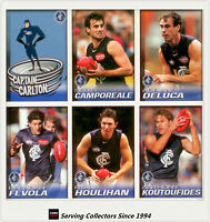 2005 Herald Sun AFL Trading Cards Base Card Team Set Carlton (12)