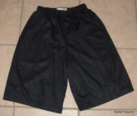 Boys Small 8 / 10 Black Athletic Elastic Waist Basketball Mesh Shorts SPORT TEK
