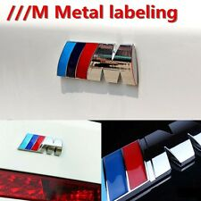 ///M Logo Emblem M Badge Sticker Car Rear Trunk Metal Decal for BMW M-Series