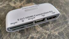 En 1 Kit de conexión 5 IPAD IPOD IPHONE APPLE 30 pines del conector USB HDMI Tarjeta Sd