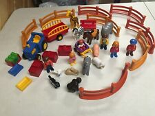 PLAYMOBIL  TODDLER CHILDREN PLAY ZOO PLAY SET W  LOTS OF ANIMALS FENCE  PCS