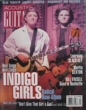 INDIGO GIRLS September 1997 ACOUSTIC GUITAR Magazine JIMMIE RODGERS BILL FRISELL
