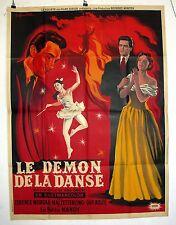 """AFFICHE CINEMA : """"Le démon de la danse"""" 1954 avec Terence Morgan"""