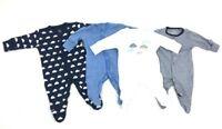 Ex Store Baby Boy Cloud Stripe Sleepsuits Babygrow x 1 Age 0 1 3 6 9 12 18 24 Mt