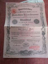 ACTION EMPRUNTS  central bodenccedit bfandbrief 1899 ALLEMAGNE ALLEMAND ( ref27