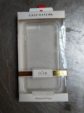 NEW Case Mate iPhone 6 Plus/7+ Naked Tough SHEER GLAM Phone Case gold glitter