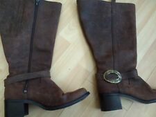 Duo (Ted and Muffy) Brown Knee High Boots, with Buckles Size 40 (50 cm Calf)