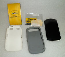 BLACKBERRY CURVE 9220 9310 9315 9320 OTTERBOX WHITE PHONE CASE +SCREEN PROTECTOR
