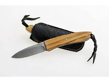 LionSteel Knives Opera 8800UL, Folding Pocket Knife w/ Olive Wood Handle