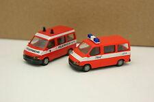 Rietze 1/87 HO - Lote de 2 Ford Transit B Bomberos Feuerwehr