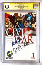 CIVIL WAR #1 CGC SS 9.8 SIGNED RUSSO BROS + FRANK GRILLO WIZARD WORLD VARIANT