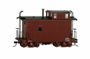 Bachmann 26566 Oxide Red On30 Data Only 18 ft. Off-Set Cupola Caboose