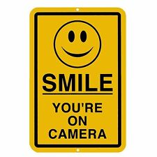 5pk Smile You're on Camera Sign Alarm Warning Stickers Home Car Busines Security