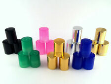 10ml FROSTED glass Bottles Caps Safer than glass Aromatherapy MINI SMALL COLOUR