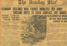 England Ready for War German Declares France Mobilizes August 2 1914 B5