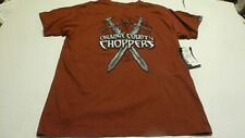 OCC ORANGE COUNTY CHOPPERS MENS LARGE DARK RED CROSSED SWORDS T-SHIRT NEW W/TAGS