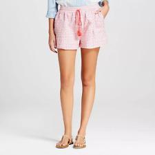 NEW Women's Isani For Target eyelet two tone Shorts white Size Large Coral