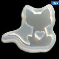 Cute Cat Silicone Resin Mold For Diy Jewelry Pendant Mould Handmade Craft  hot